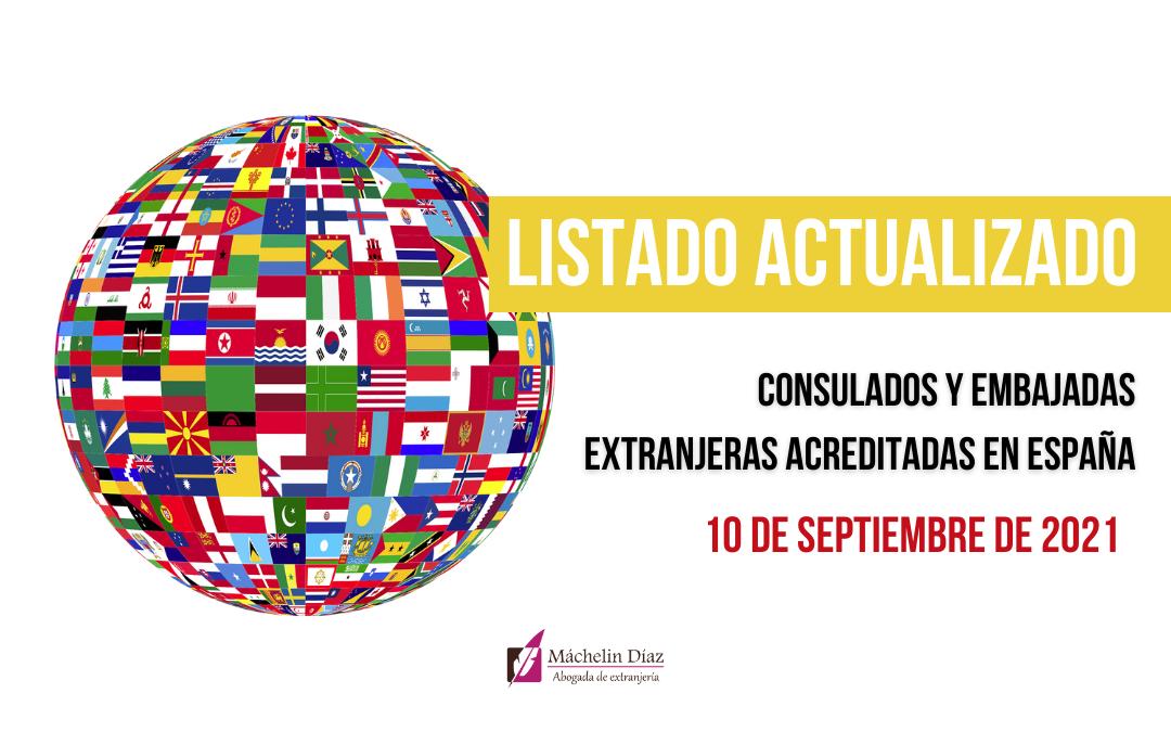 consulados y embajadas extranjeras