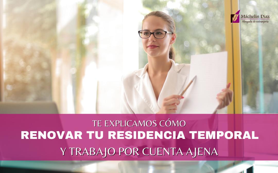 renovar residencia y trabajo por cuenta ajena