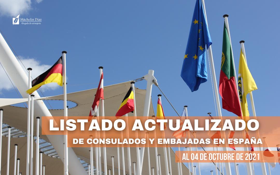 consulados y embajadas en españa